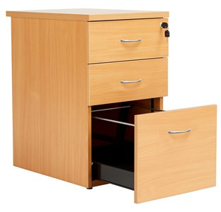 3 Drawer Fraction Plus Desk High Drawer Set